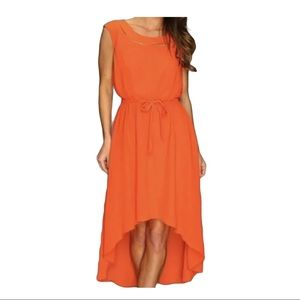 Jessica Simpson Dress 8 Orange Sleeveless